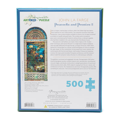 Peacocks & Peonies 500 Piece Puzzle