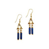 Lapis Lazuli and Pearl Lotus Earrings