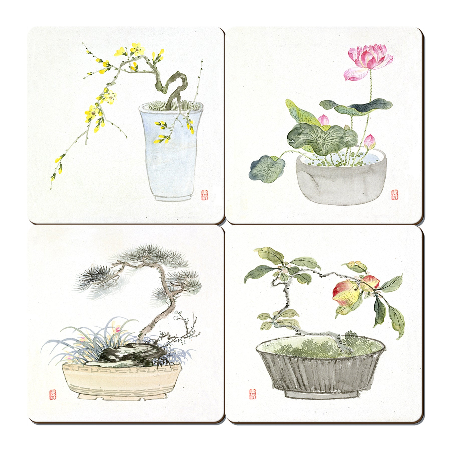 Setsuan Flowers Coaster Set