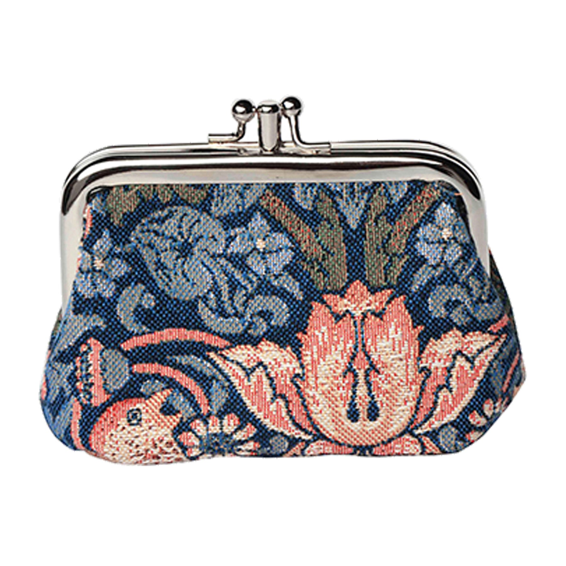 Strawberry Thief Coin Purse in Blue