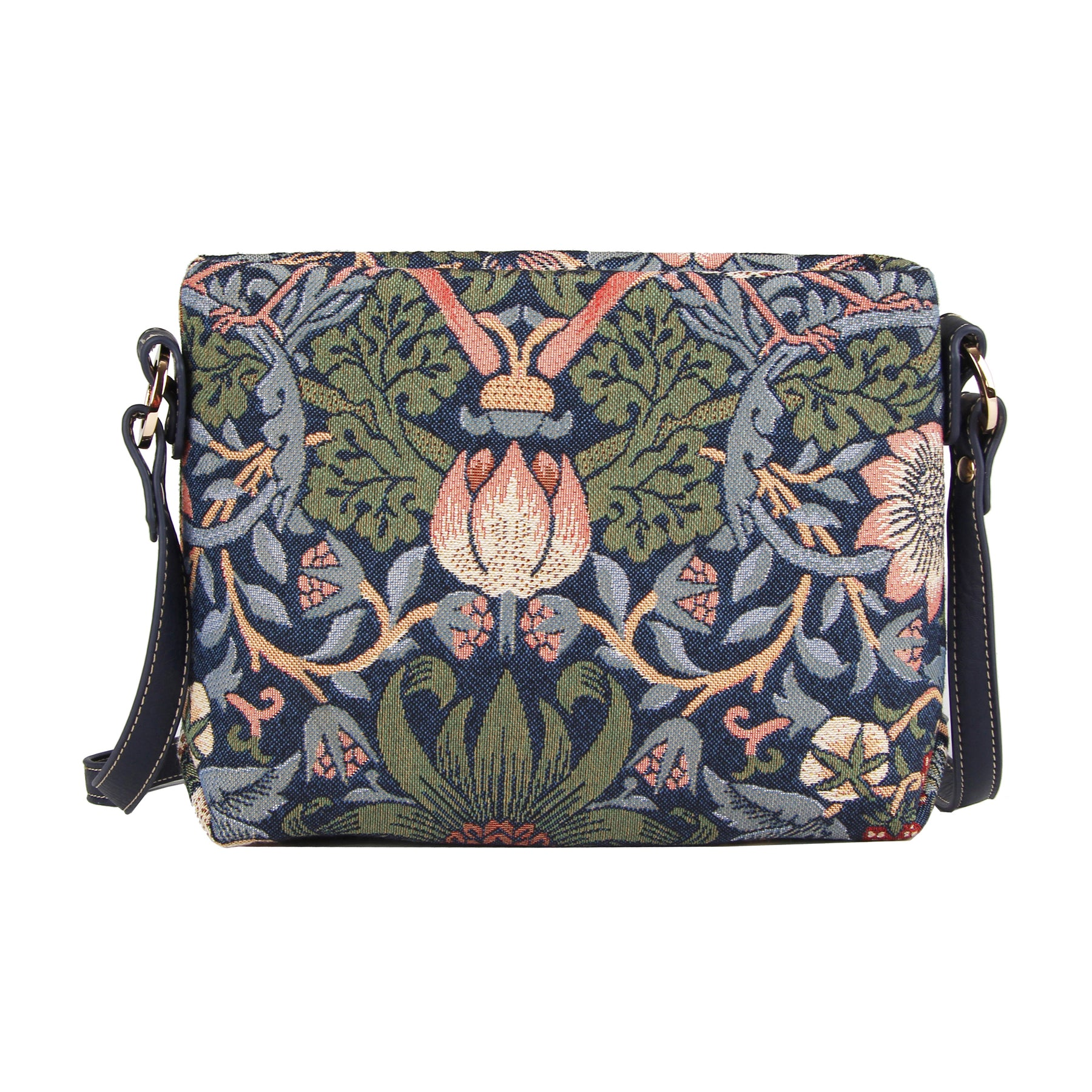 Strawberry Thief Crossbody Bag in Blue