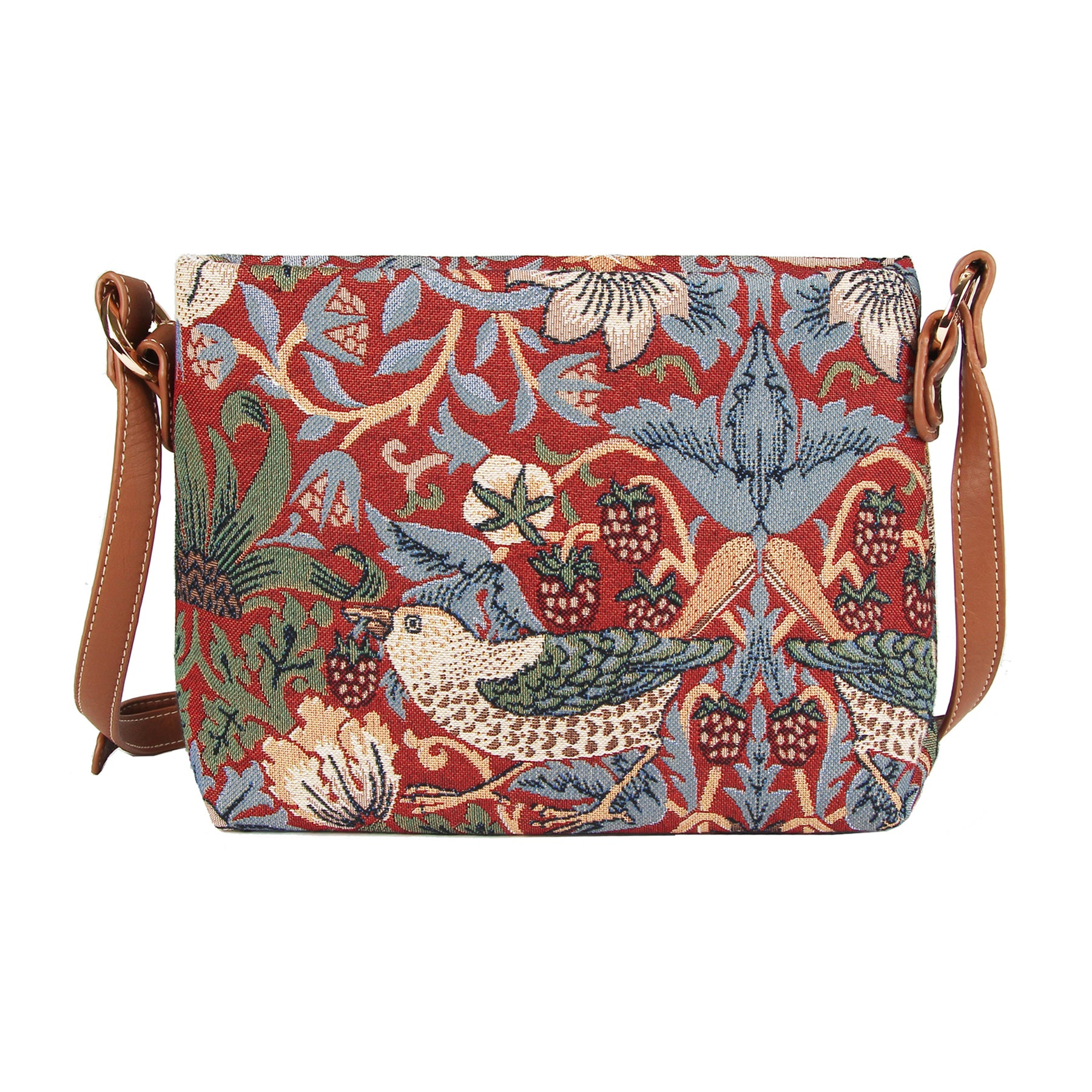 Strawberry Thief Crossbody Bag in Red