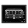 Walters Art Museum Main Building Blueprint Matted Print