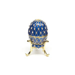 Blue Lattice Egg Box and Necklace