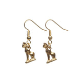 Egyptian Cat Amulet Earrings
