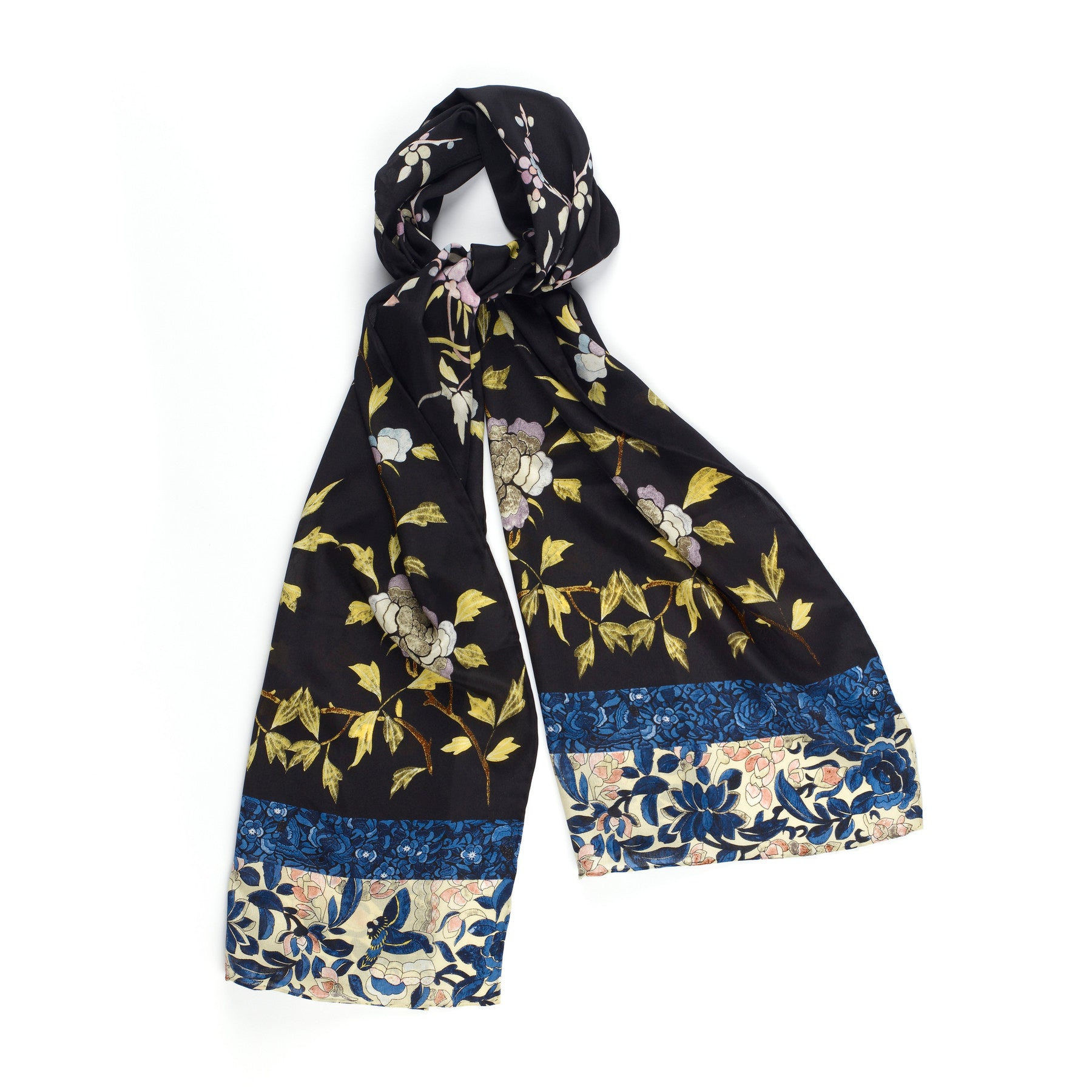 Chinese Embroidery Silk Scarf