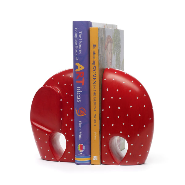 Elephant Soapstone Bookends