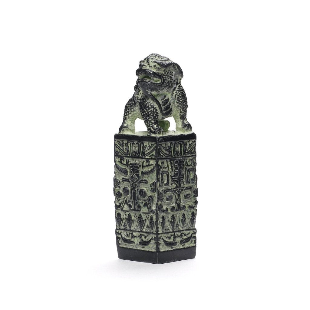 Fu Lion Seal Figurine