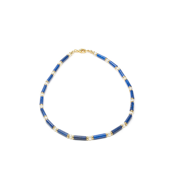 Lapis Lazuli and Pearl Necklace