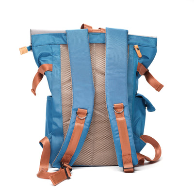 Arctic Blue Rolltop Backpack