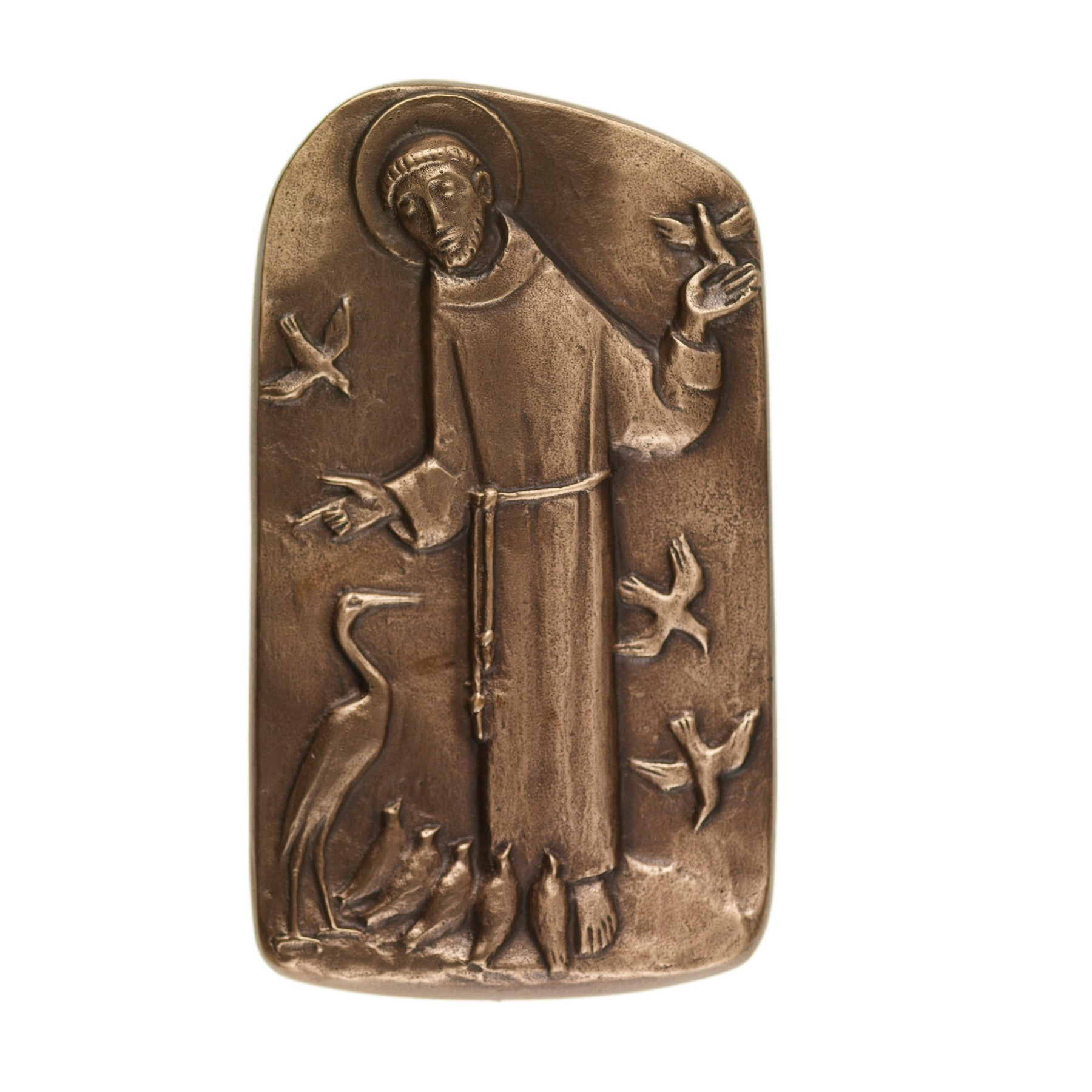 St. Francis of Assisi Bronze Plaque