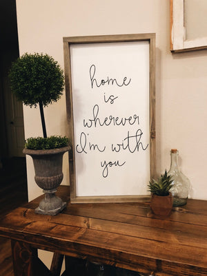 WHEREVER I'M WITH YOU SIGN