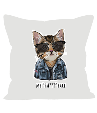 My Happy Face Kitten Sofa Cushions