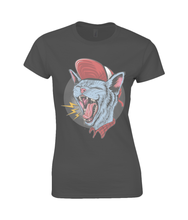 Screaming Punk Cat SoftStyle® Ladies Fitted Ringspun T-Shirt