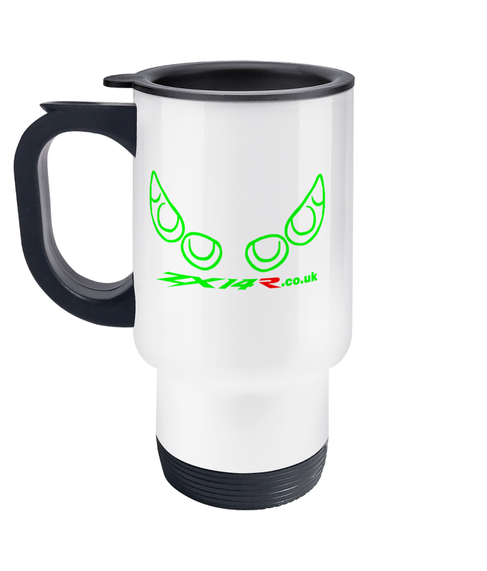 ZX14R.co.uk Gen 1 Light Outline Travel Mug