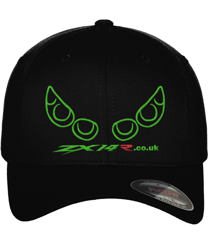 ZX14R.co.uk Gen 1 Lights Outline Yupoong Fitted Baseball Cap