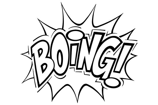 BOING! Comic Decal