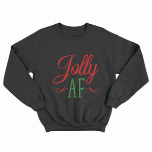 Jolly AF Christmas Unisex Jumper - Infinity Decals