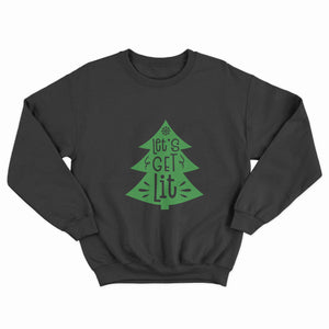 Let's Get Lit Christmas Unisex Jumper - Infinity Decals
