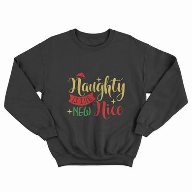 Naughty is the New Nice Christmas Unisex Jumper - Infinity Decals