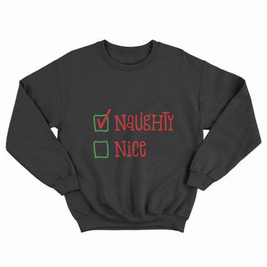 Naughty or Nice Christmas Unisex Jumper - Infinity Decals
