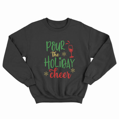 Pour the Christmas Cheer Unisex Jumper - Infinity Decals