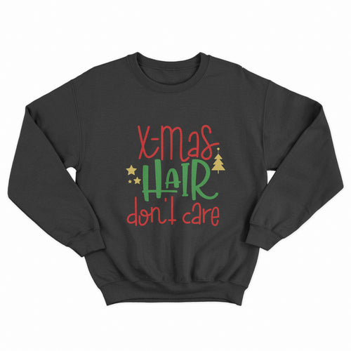 Xmas Hair Don't Care Christmas Unisex Jumper - Infinity Decals