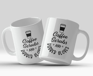 Coffee Scrubs & Rubber Gloves 11oz Mug