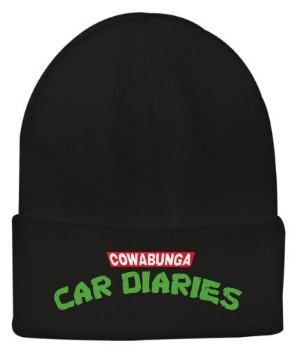 Cowabunga Car Diaries Embroidered Beanie