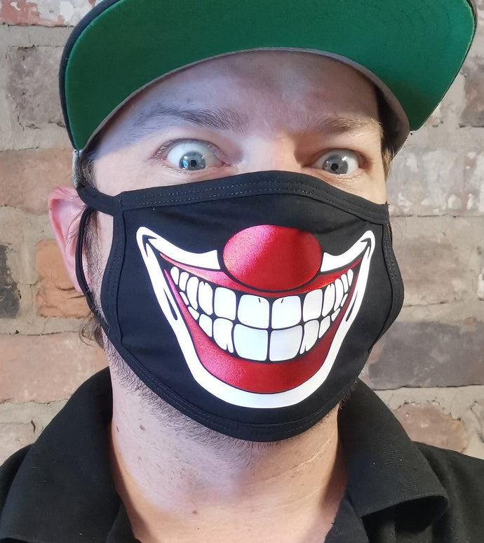 Creepy Clown Smile Reusable Non Medical Face Covering