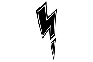 Lightning Bolt Question Mark Comic Decal