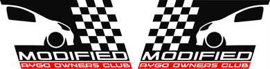 Modified Aygo Owners Club Decals - Pair