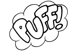 PUFF! Comic Decal