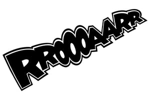 RROOOAARR Comic Decal
