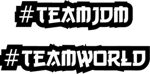 #TEAM Decal Sticker - Pair