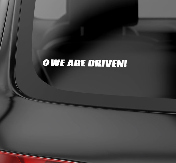WE ARE DRIVEN logo Facebook decal