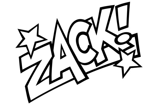 ZACK! Comic Decal