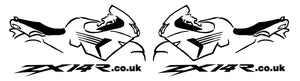 ZX14R.co.uk Gen1 Bike Outline Decal
