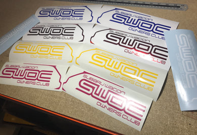 Subaru Wagon Owners Club Decals (Pair) - Infinity Decals