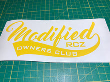 Modified RCZ Owners Club decal - Single - Infinity Decals