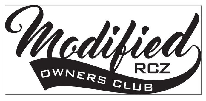Modified RCZ Owners Club decal - Pair - Infinity Decals