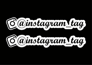 Instagram Custom Cut Out Design Decals - Set of 2