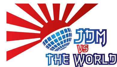 JDM vs the World Large Red & Blue Decal Sticker