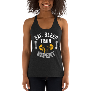 Eat Sleep Train Repeat Racerback Tank