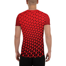 Triangle Wave Fade Men's Athletic T-shirt - Infinity Decals