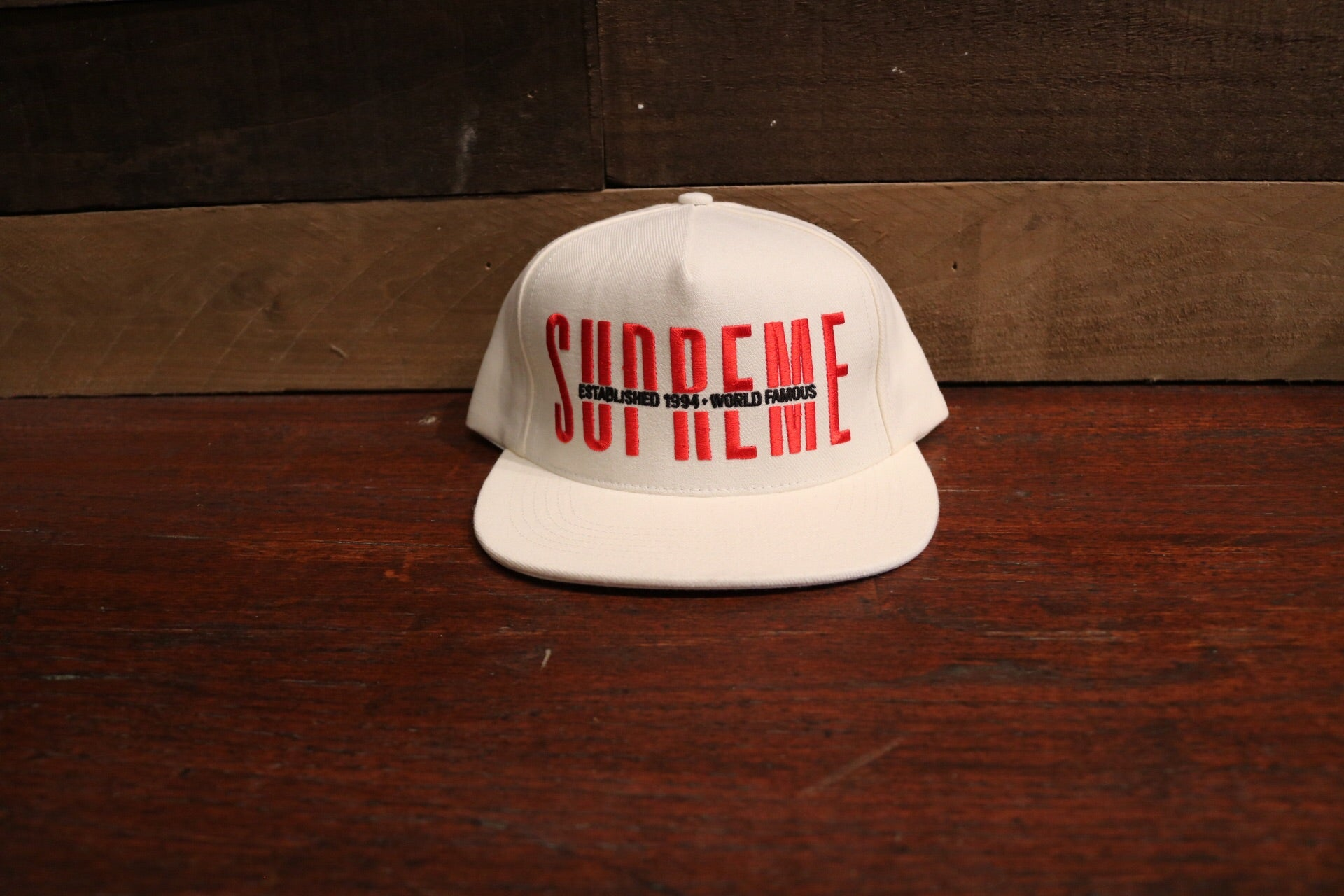 fa1c5ba63da Supreme White Global5 Panel Cap Hat (FW18)