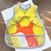 Korea Designer High Quality Waterproofed Cute Fox Bib