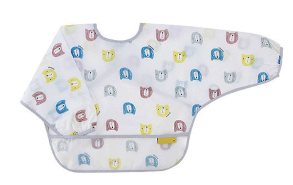 Designer High Quality Waterproofed Long Sleeves Feeding Bib - Bear Bear - 0 to 4 yrs