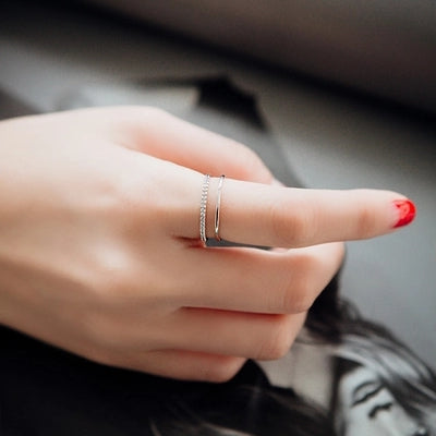 K-pop Star Pick High Quality 3A Class Zircon Hypoallergenic Rings - Rose Gold/Gold/Platinum Plated