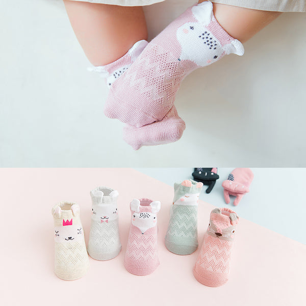 High Quality Premium Cotton Designed Socks - Lovely Set - 0 to 3 yrs